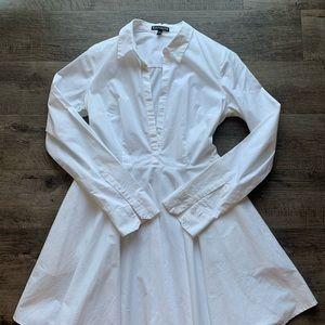 White Express button down dress size 8